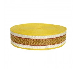 Sangles  Sangle plastique recyclé jaune - Chevron - 55 mm  babachic