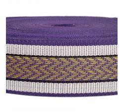 Straps  Recicled plastic purple strap - Chevron - 55 mm  SA55-012
