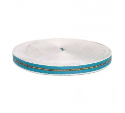 Thin recycled plastic blue strap - 23 mm