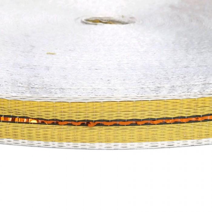 Cincha fina de plástico reciclado amarillo - 23 mm