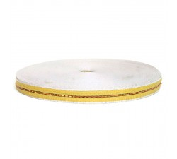 Thin recycled plastic yellow strap - 23 mm