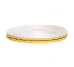 Sangle fine en plastique recyclé jaune - 23 mm