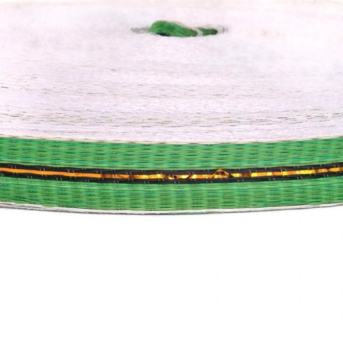 Cincha fina de plástico reciclado verde - 23 mm