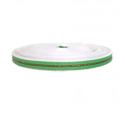 Sangle fine en plastique recyclé vert - 23 mm