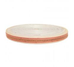 Thin recycled plastic orange strap - 23 mm