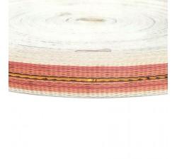 Cincha fina de plástico reciclado naranja - 23 mm