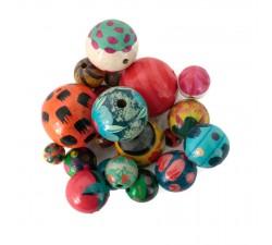 Mix de cuentas Mix de cuentas de madera multicolor babachic