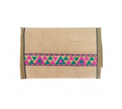 Wallets Pink jute wallet Babachic by Moodywood
