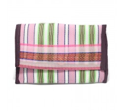 Wallets Recycled pìnk and green plastic wallet Babachic by Moodywood