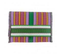 Portes-monnaie Porte-monnaie vert/violet en plastique recyclé Babachic by Moodywood