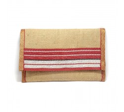 Wallets Red jute wallet Babachic by Moodywood