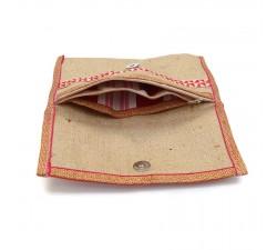 Portes-monnaie Porte-monnaie rouge en jute Babachic by Moodywood
