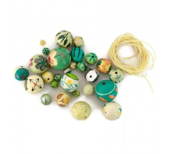 "Kit collier ""Short round"" Kit collier Short round citron vert Babachic by Moodywood"