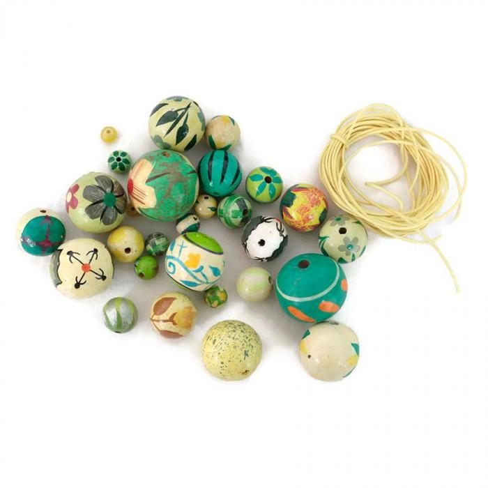 Lemon green Short round necklace kit