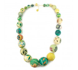 """Short round"" necklace kit Lemon green Short round necklace kit Babachic by Moodywood"