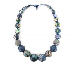 """Short round"" necklace kit Blue Short round necklace kit Babachic by Moodywood"