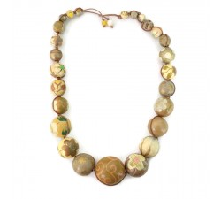 """Short round"" necklace kit Golden Short round necklace kit Babachic by Moodywood"