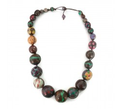 """Short round"" necklace kit Brown Short round necklace kit Babachic by Moodywood"