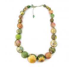 """Short round"" necklace kit Green Short round necklace kit Babachic by Moodywood"