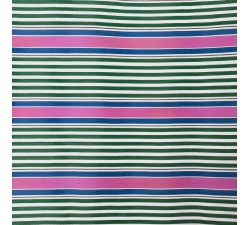 Striped recicled plastic Striped recycled fabric pink, green and blue babachic