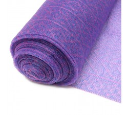 Purple recycled plastic tulle