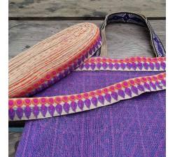 Tulle de plastique recyclé Tulle plastique recyclé violet babachic