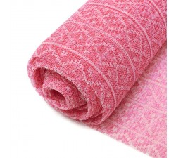 Tulle de plastique recyclé Tulle plastique recyclé rose babachic