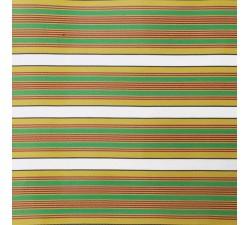 Plastique recyclé rayé Tissu plastique rayures jaune, vert et rouge babachic