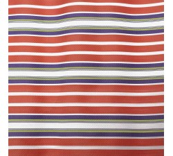 Striped recicled plastic Striped recycled fabric orange and purple babachic