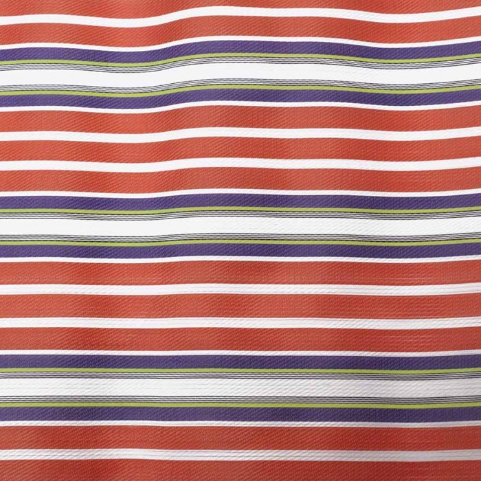 Striped recycled fabric orange and purple