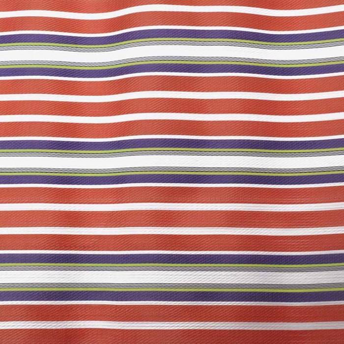 Tissu plastique rayures orange et violet