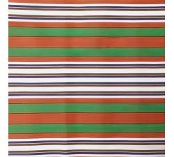 Plastique recyclé rayé Tissu plastique rayures orange et vert babachic