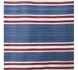 Striped recicled plastic Striped recycled fabric burgundy and blue babachic