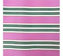 Plástico reciclado rayado Tela de plástico con rayas rosa y verde babachic