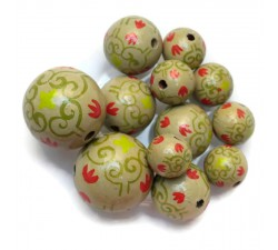Royal Royal wooden beads - Green Babachic by Moodywood