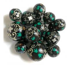 Mosaïque Perles en bois Royal - Noir et blanc Babachic by Moodywood