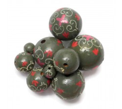 Royal Royal wooden beads - Grey Babachic by Moodywood