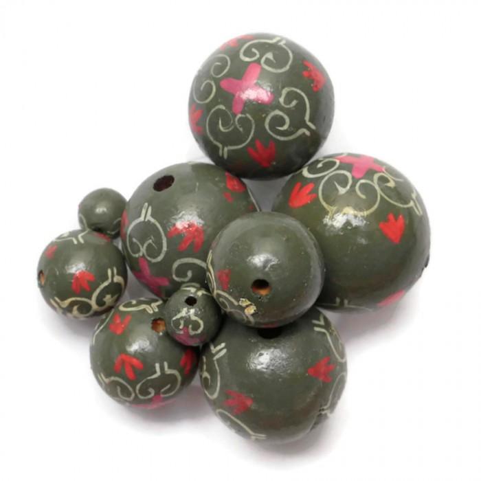 Royal wooden beads - Grey