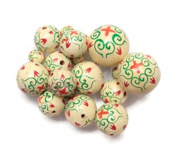 Royal Royal wooden beads - White beige Babachic by Moodywood