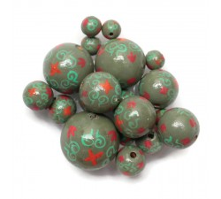 Royal Royal wooden beads - Khaki Babachic by Moodywood