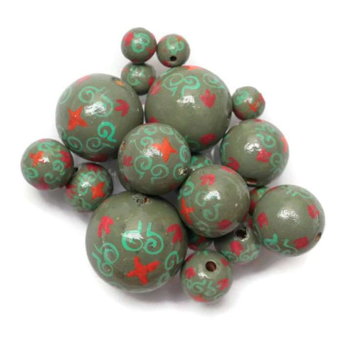 Royal wooden beads - Khaki