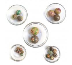 Mix de cuentas Surtido de cuentas de madera - Rosa gris babachic