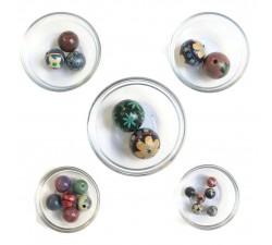 Mix Perles Assortiment de perles en bois - Bleu babachic