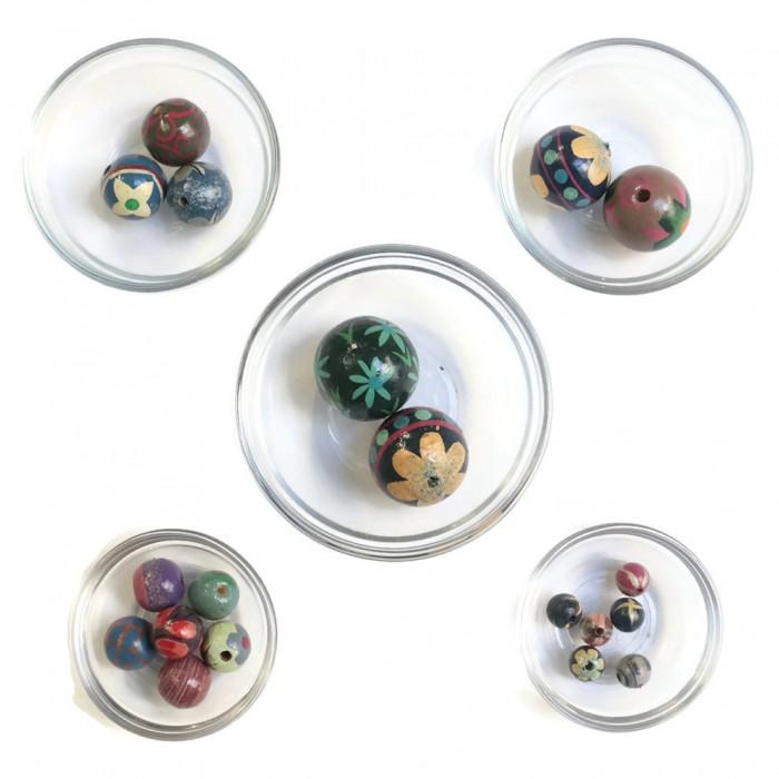 Assortment of wooden beads - Blue
