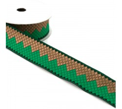 Ribbons Afro ribbon - Green - 35 mm babachic