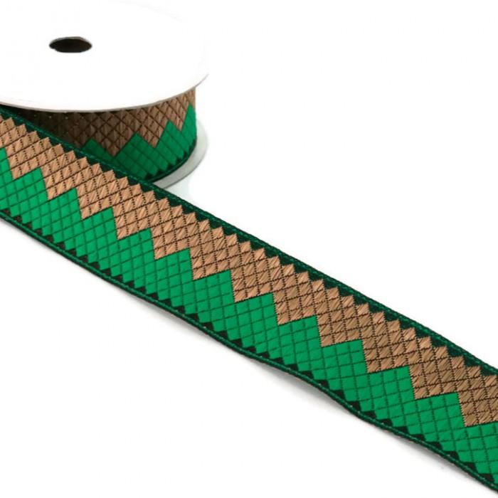 Afro ribbon - Green - 35 mm