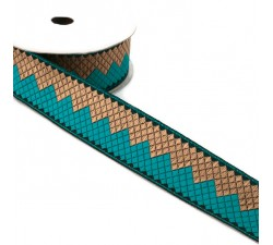 Afro ribbon - Turquoise - 35 mm