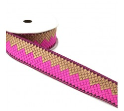 Ribbons Afro ribbon - Pink - 35 mm babachic
