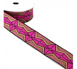 Ribbons African ribbon - Pink - 35 mm babachic