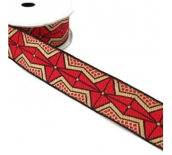 Ribbons African ribbon - Red - 35 mm babachic